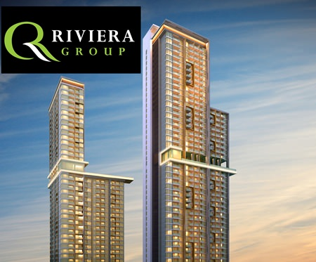 An artist's rendering shows 'The Riviera' project in Wongamat.