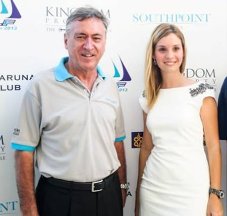Irina Breslavtseva (right) stands with Kingdom Property CEO Nigel Cornick.
