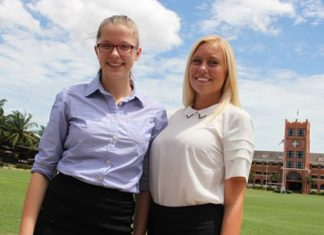 Antonia (left) and Elizabeth have joined almost 100 other boarding students at The Regent's School.