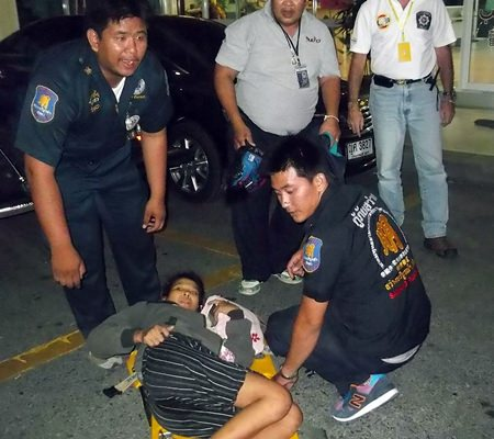 """Joy"" went into labor whilst visit her husband, a burglary suspect, at Pattaya jail."
