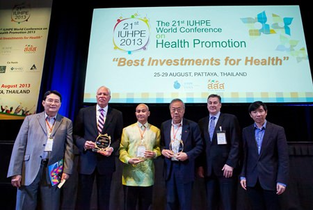 Thailand, the Netherlands and United Kingdom won the first-time IHUPE awards for the best health promotion programs at the 21st International Union for Health Promotion and Education conference in Pattaya.