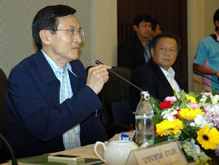 Minister of Education Chaturon Chaisaeng.