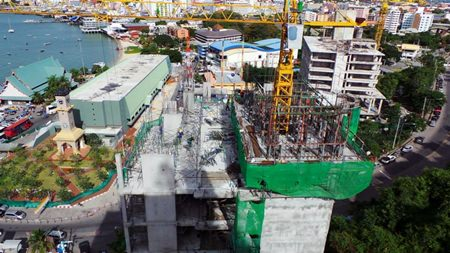 Work continues apace at the Waterfront project in Pattaya.