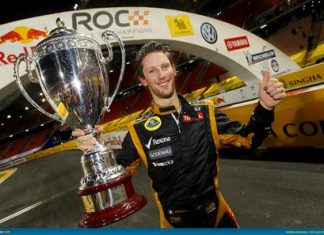 Champion Romain Grosjean.