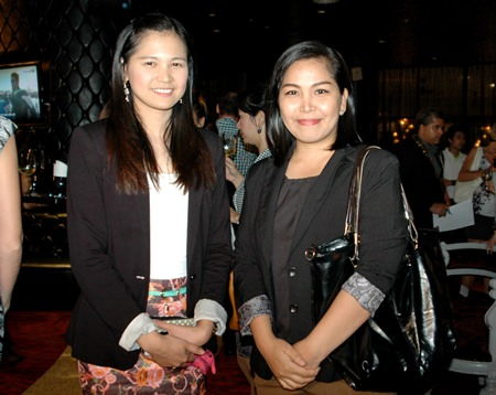 Janya Rattanaliam (left), Head of Int'l Marketing and Ariya Chatsri, Marketing Executive for Bangkok Hospital Pattaya.