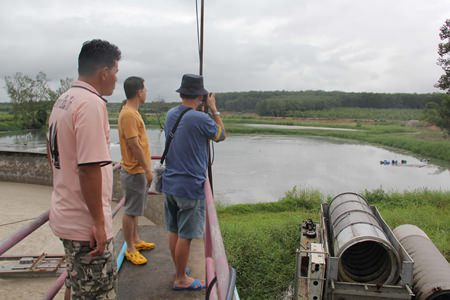 Rayong officials are telling local residents that no environmental damage resulted from the breach of a disused wastewater-treatment reservoir.