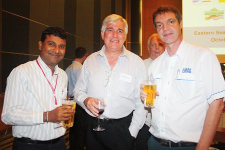 (L to R) Ramesh Ramanathan, MD of Visteon (Thailand) Limited, Frank Holzer from General Motors and Uli Kaiser, Business Development ASEAN of EMAG Group - Thailand Office.