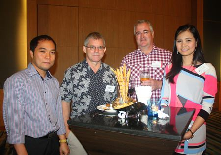 (L to R) Neil Maniquiz, Head of the International Marketing Department at Bangkok Hospital Pattaya, Grover Preston, Engineering Manager of the PAC Group China Operations, Okko Sprey, Consultant of Plus Exploration Co., Ltd., and Janya Rattanaliam, Deputy Head of the Bangkok Hospital Pattaya International Marketing Department.