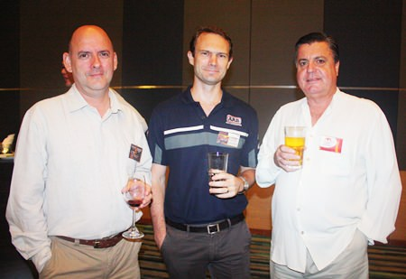 (L to R) Neal Brazel, Principal of Bladerunner Consulting Asia Co., Ltd., Ben Mitchell, MD of Off Road Accessories Limited and Trevor Ian Dick, Chairman of Australasia Holdings Ltd.