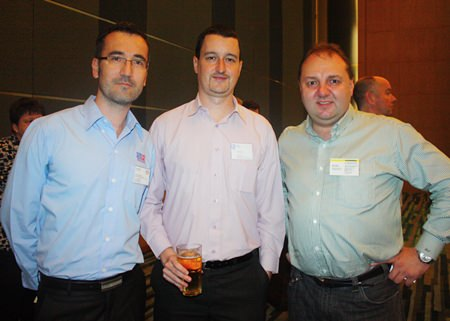 (L to R) Florent Parisot, Operations Manager of EuroKera (Thailand) Limited, Damien Kerneis, Key Account Manager of Geodis Wilson Thai Ltd., and Ralf Alber, MD of Guehring (Thailand) Co., Ltd.