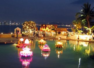 The most romantic night on the Thai calendar, Loy Krathong, is this Sunday, November 17. The festivities will be held throughout the city at hotels and anywhere there is water, whilst the city organized fun will take place in Naklua and at Bali Hai pier. So, take your significant other by the hand, buy or build a biodegradable krathong, head to a body of water and float away your troubles. (Photo courtesy of the Dusit Thani Pattaya)