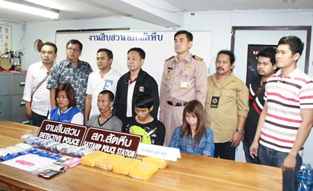 Suchart Ruenruang, Suchada Muangphuak, Sanit Ngewket, and Orasa Chathongyos have been arrested with a huge cache of illegal narcotics.