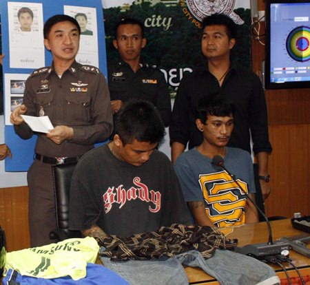 Polphaisal Thappriksorn and Ronachai Sangienwong have been charged with armed robbery.