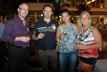 (L to R) Markus Wehrhahn, Ben Mitchell, Kelly Mitchell, and Rosanne Diamente.