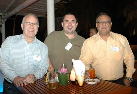 (L to R) Michael Ruddick, President ARC Pacific Siam Ltd., Gavin Ruddick, Operations Manager ARC Pacific Siam Ltd., and Michael Grisaffi, Key Account Manager United Relocations (Thailand) Co., Ltd.