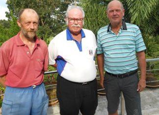 Dave Richardson (center) with Thursday's winners Joe Vanderwegon and Niels Hansen.