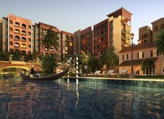 An artist's impression shows the completed Venetian Signature Condo Resort Pattaya.