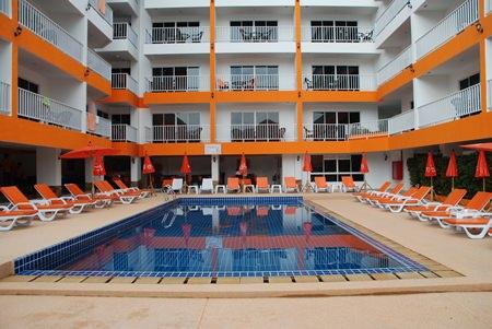 The pool area at New Nordic VIP-4 Condominium.