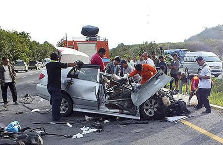 Another road accident.