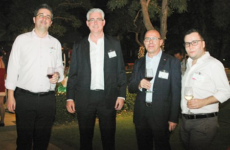 (L to R) Fabien Legouic, Brendan Daly, GM of Amari Orchid Pattaya, Rob Scarr, Business Development Manager-Thailand for Securitas (Thailand) Co., Ltd.; and Fernamdo Iturbe.