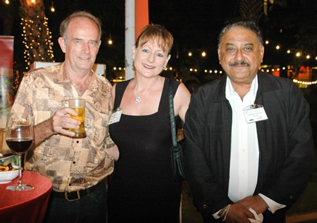 (L to R) Stuart Saunders (Es Design), Angie Turton (MD of Sentinel Enterprises) and Pratheep (Peter) Malhotra (MD of the Pattaya Mail Media Group).