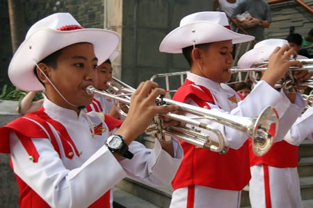 The Pattaya Marching Band was in fine tune.