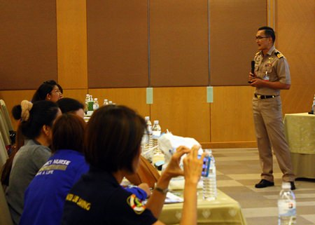Speakers from the Royal Thai Navy's Medical Affairs Department covered pre-hospital management and nursing management when responding to marine accidents.