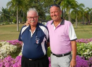 Niels Hansen (right) with Dave Richardson.