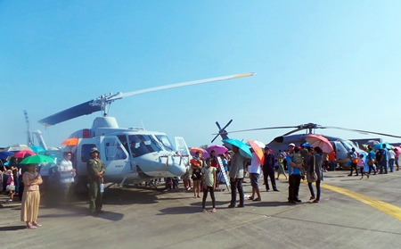 U-Tapao air base was opened to the public on Children's Day.