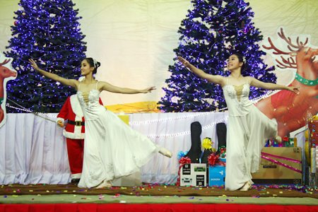 Dancers from the Dance Studio perform a magical Christmas ballet.