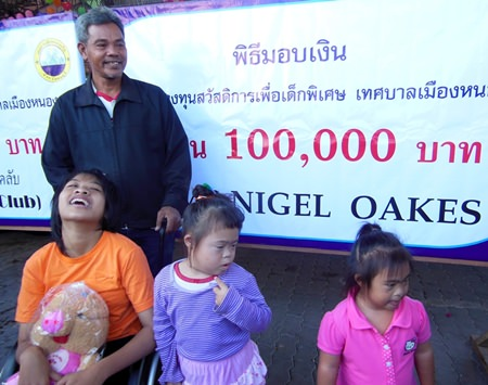 Dang organizes events for 15 handicapped children.