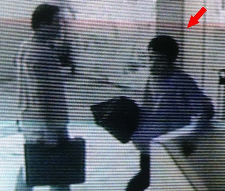 Security cameras caught the thief as he was rushing out of the building with the stolen property.