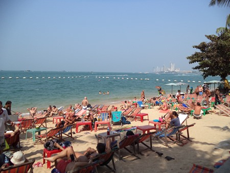 "Area beaches are once again full, in part due to many people escaping the ""shutdown"" in Bangkok. With Bangkok under siege from anti-government protestors, Pattaya is seeing a tourist resurgence, as Thais and foreigners flee the capital for the Eastern Seaboard."