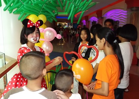 Balloons and face painting fun during last year's Children's Day.