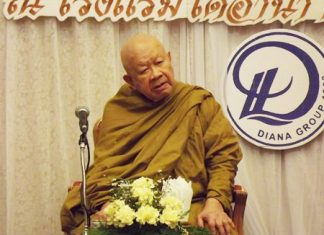 Luang Pho Viriyang Sirintharo celebrates his 95th birthday by opening the long-planned expansion of his Willpower Institute in Pattaya.