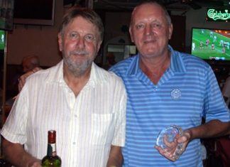 Medal winners - Peter LeNoury (left) with Bob Newell.
