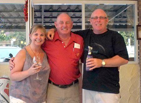 Mandy, Bob Philp and Alan Beck.