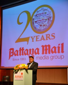 Peter Malhotra, MD of Pattaya Mail Media Group, speaks about the purpose of the charity event.