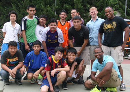 The teenagers with special needs did not win their soccer match, but they didn't lose either.