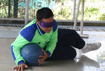 Goalball is one of the toughest games to play, but the Pattaya students play it very well.