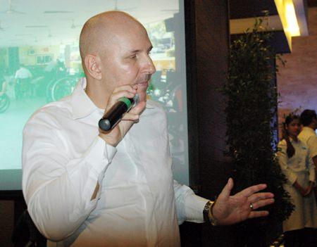 The night's guest speaker, Jens Maspfuhl.