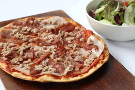 'The Meat Lover's Pizza' at Havana Bar & Terrazzo.