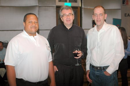 (L to R) Larry Jackson, Business Development Manager for Thyssen Krupp Elevators; Bruno Burbach, from Dupont Waterbeds Thailand, Pattaya; and Markus Klemm, LL.M., Managing Director of Asia LawWorks Co., Ltd.