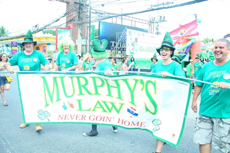 It wouldn't be a St Patrick's Day celebration without Murphy's Law taking part!