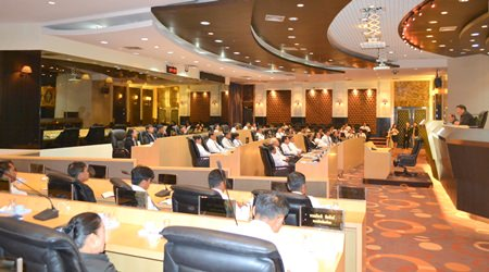 Visitors were given this view inside the workings of Pattaya City Hall.