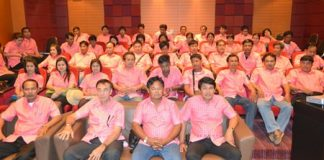 About 50 employees from Uthai Thani visited Pattaya to study management and administrative processes.