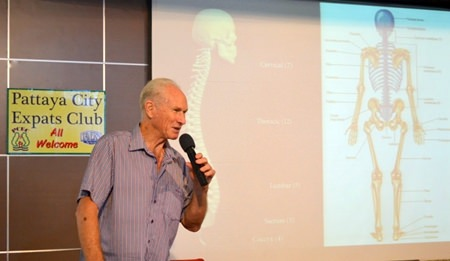 Dr Warwick Selvey, a chiropractor with 48 years of experience in his native Australia, was PCEC's guest speaker for March 2nd.