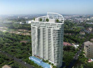 An artist's rendering shows the Royal Tulip Suites Pattaya on soi 5 Pratamnak Hill.