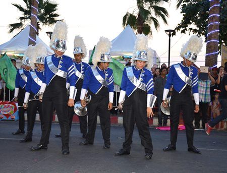 A precision marching band from Pattaya's local schools shows their talents.