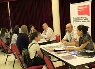 Students in Years 10, 11 and 12 meet representatives from the universities.